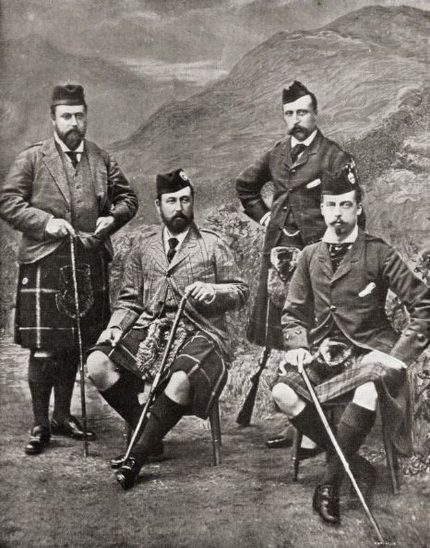 Queen Victoria's four sons,1881