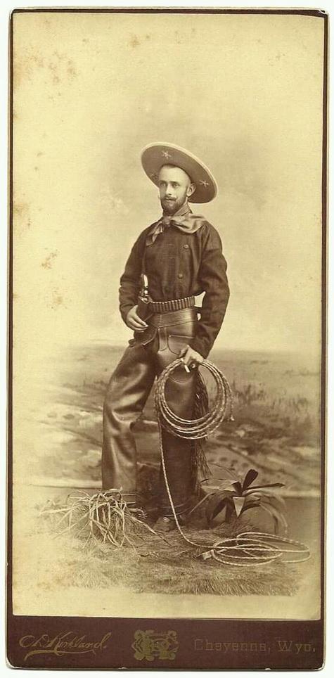 Authentic cowboy, 1800s