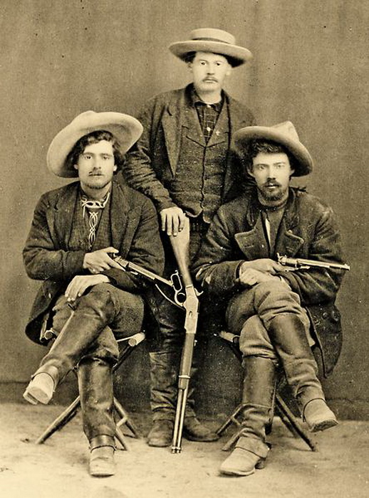 Three gunfighters from the WildWest