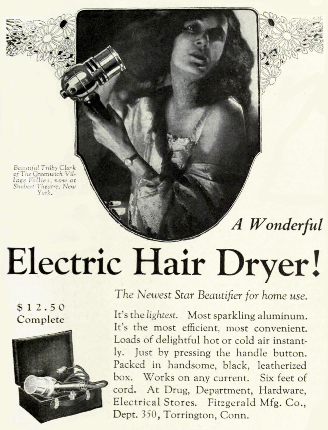 Electric hair dryer,1920s