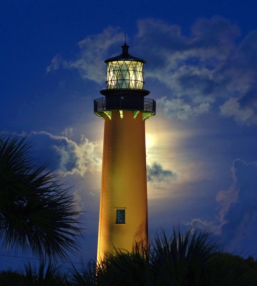 Bright, shining phallus on a hill – Jupiter Lighthouse,Florida