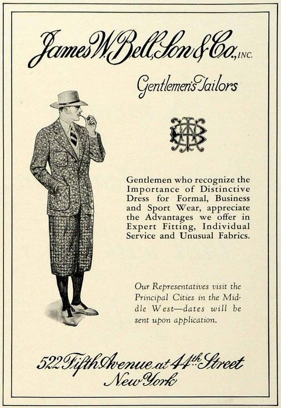 James W. Bell & Sons, gentlemen's tailors,NYC