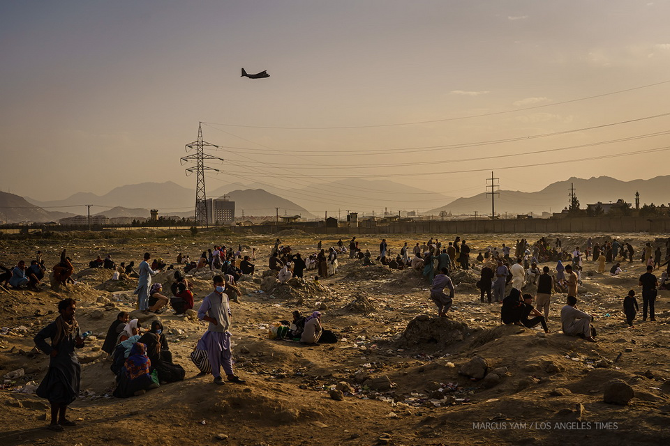 Outside the Kabul airport, Afghanistan, August2021