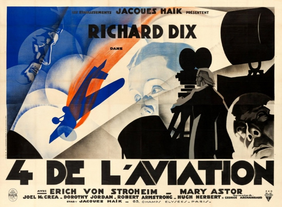 """Poster for the French version of """"The Lost Squadron"""", 1932"""