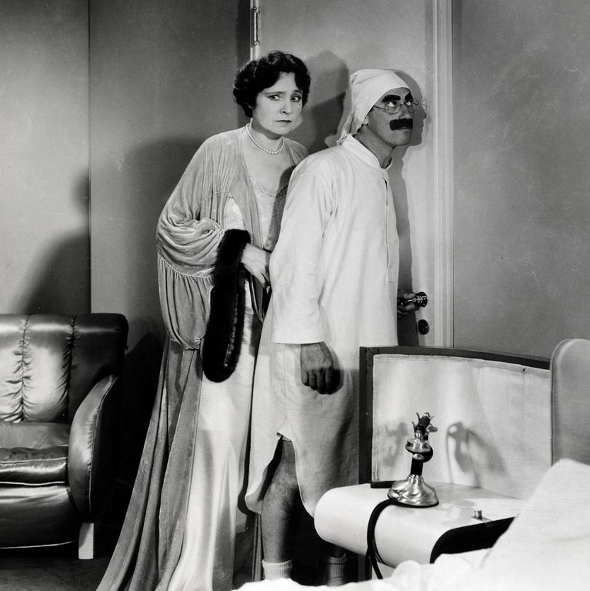 """Margaret Dumont and Groucho Marx in """"DuckSoup"""""""
