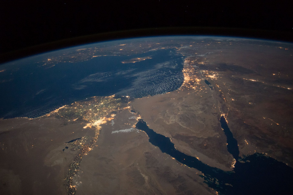 The Mid-East as seen from the International SpaceStation