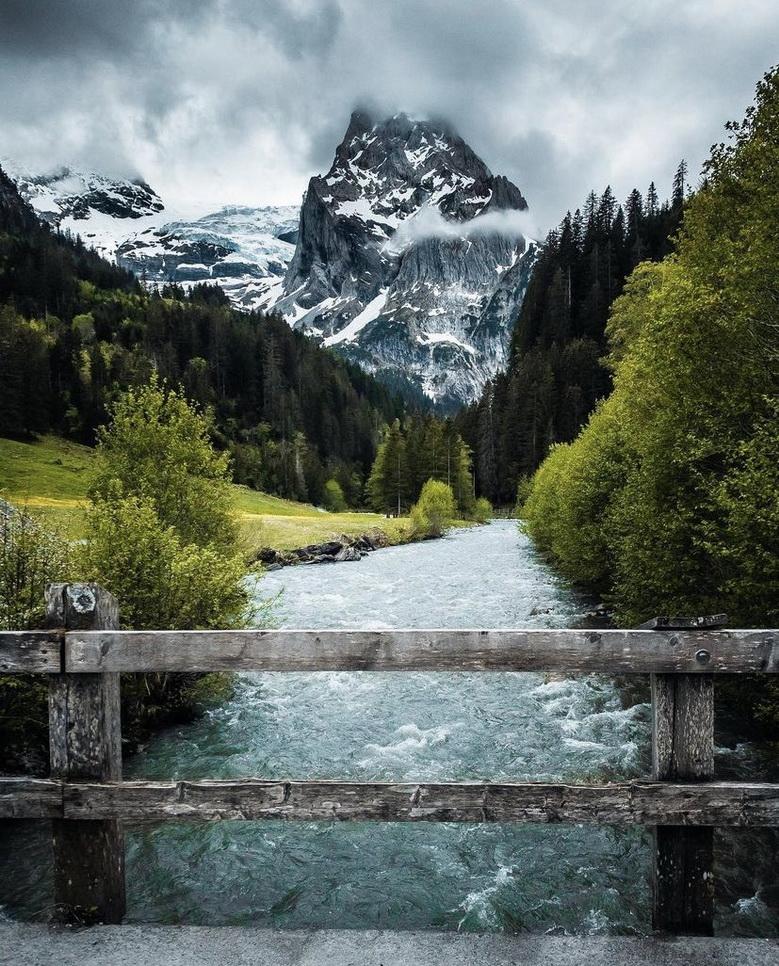 Mountain river, Switzerland