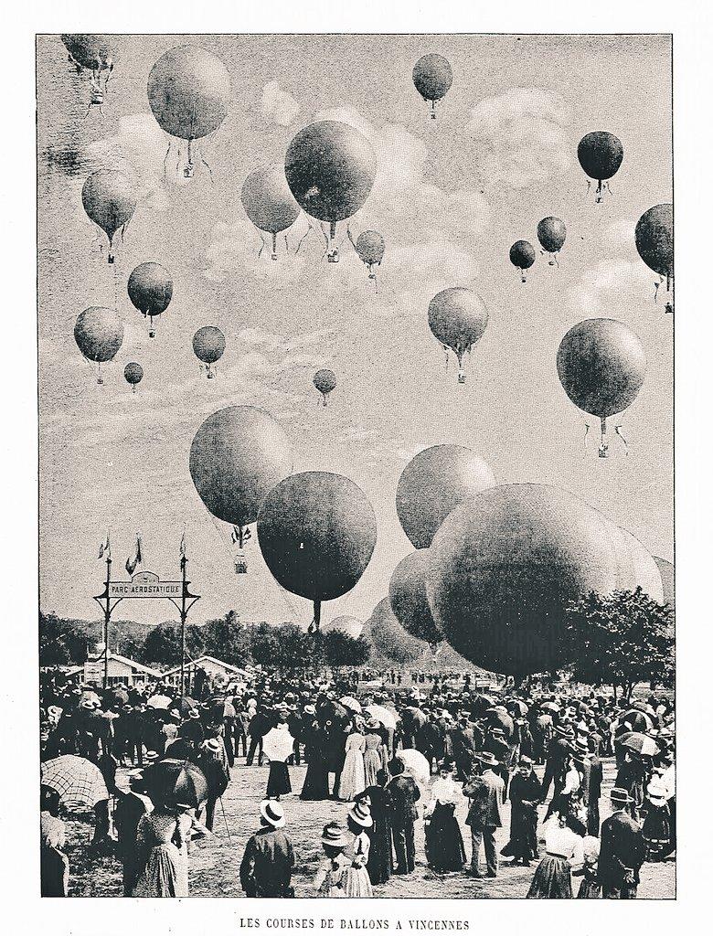 Hot air balloons at the Paris Olympics,1900