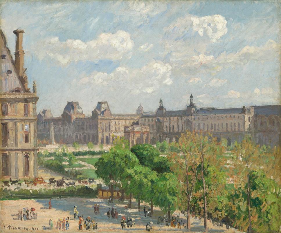 """""""Place du Carrousel, Paris"""" by Camille Pissarro,1900"""