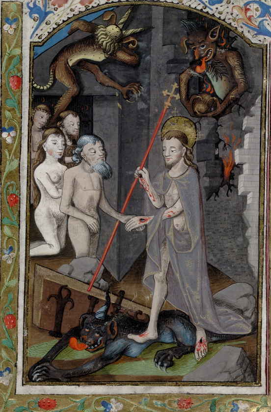 Medieval art:  The Descent of Jesus intoHell