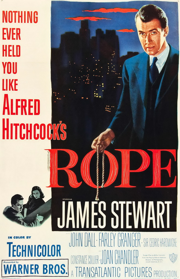 """Nothing ever held you like Alfred Hitchcock's """"Rope"""", 1957"""