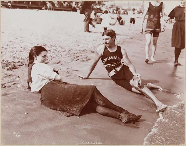 Nikola Tesla as a swim instructor before his career as an electricalengineer