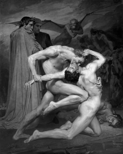 "William Bouguereau's ""Dante and Virgile"",1850"