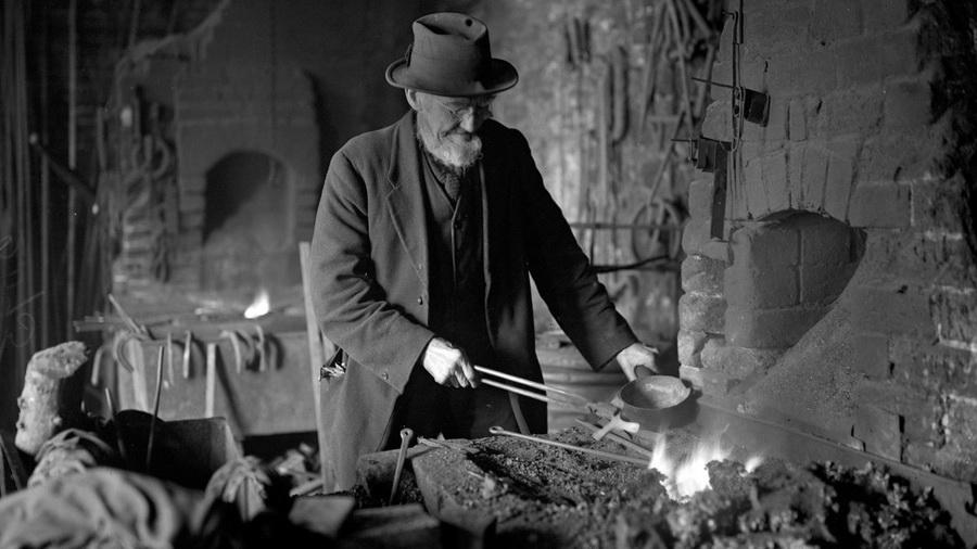 Blacksmith in days of yore,UK