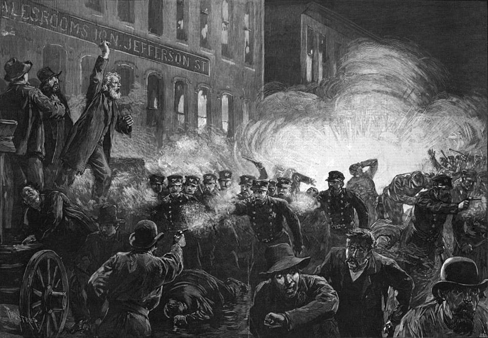 Haymarket Labor Riot, Chicago,1886