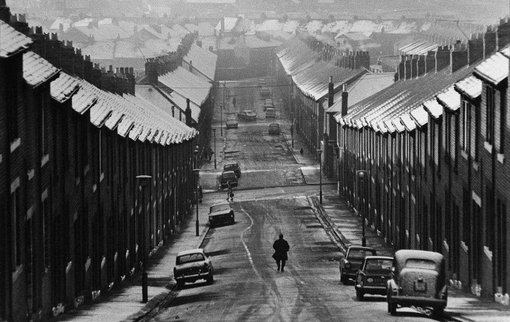 Working class homes, London, photo by Sirkka-Liisa Konttinen,1969