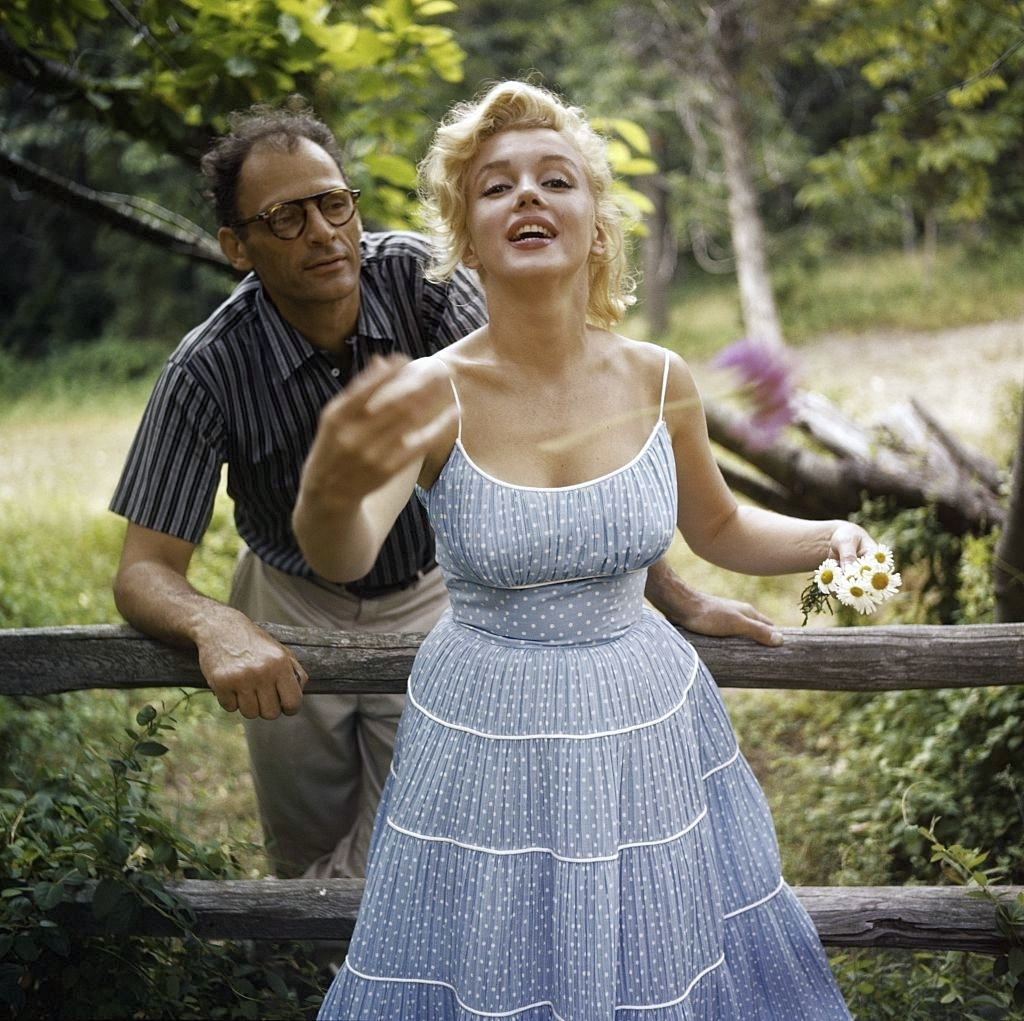 Marilyn Monroe and her husband Arthur Miller,1950s