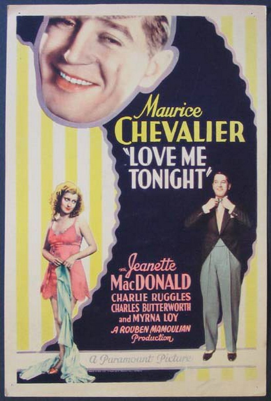 """Maurice Chevalier and Jeanette MacDonald in """"Love Me Tonight"""",1932"""