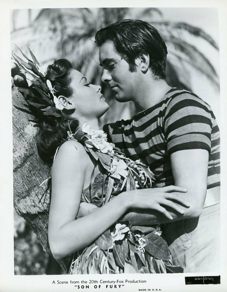 """Gene Tierney and Tyrone Power in """"Son of Fury"""",1942"""