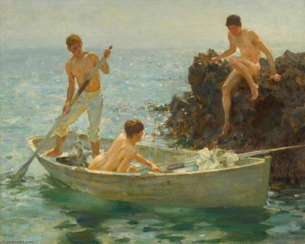 """""""The Bathing Cove"""" by Henry ScottTuke"""