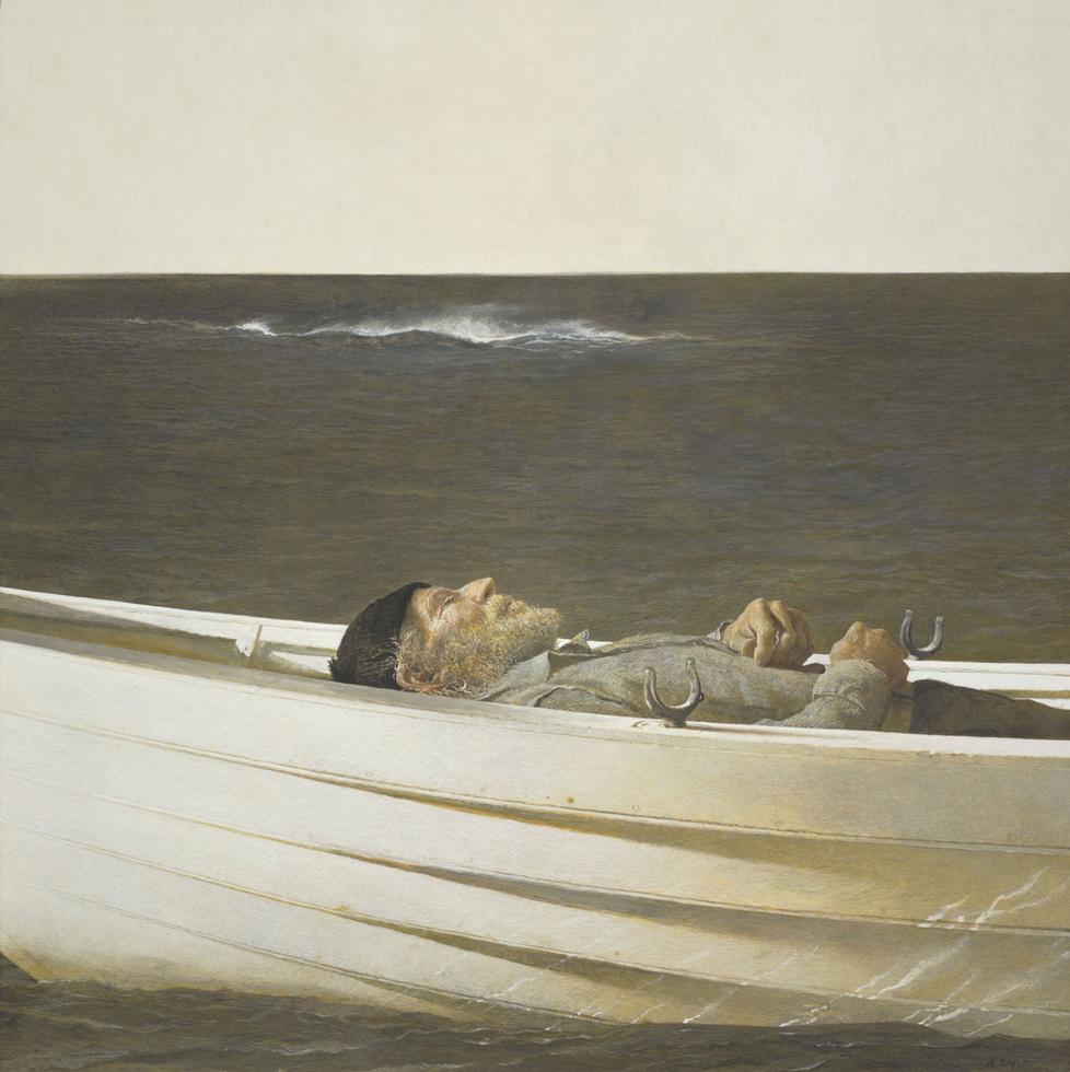 """Adrift"" by Andrew Wyeth,1982"