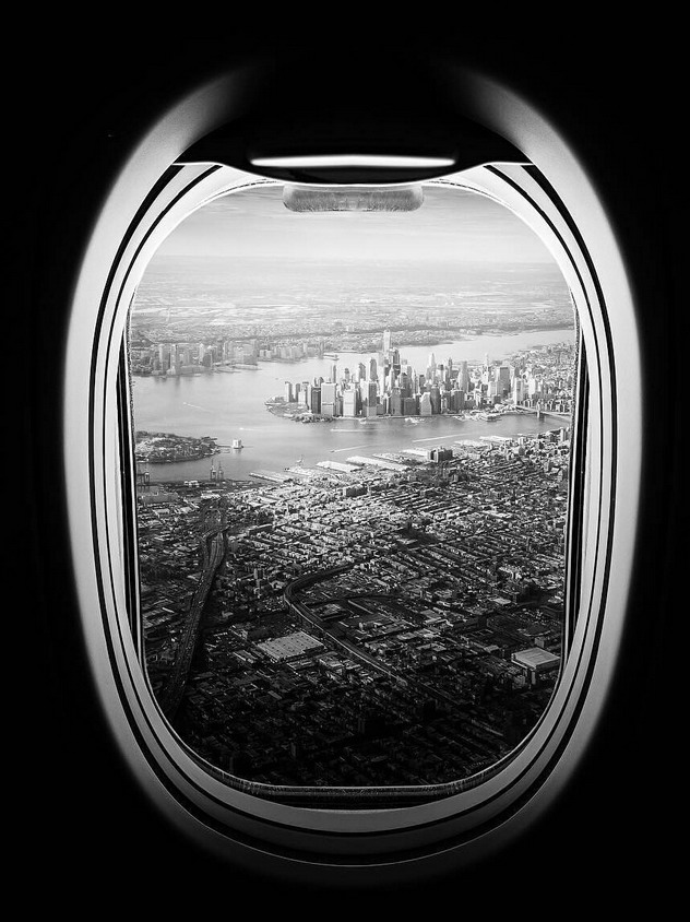 NYC through an airplanewindow