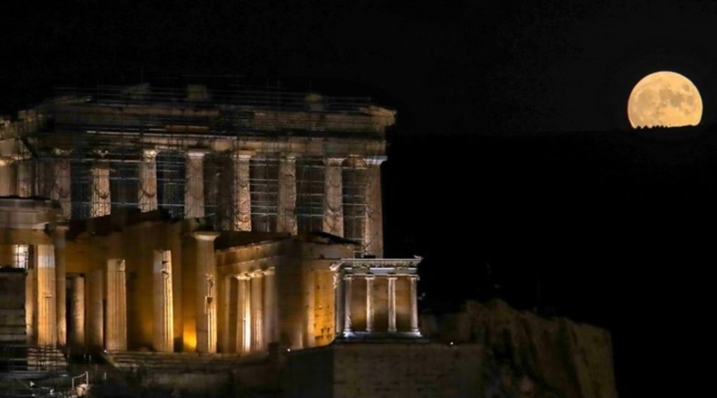 Athens by moonlight