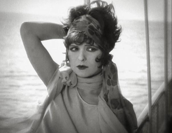 Silent film star Clara Bow on aship