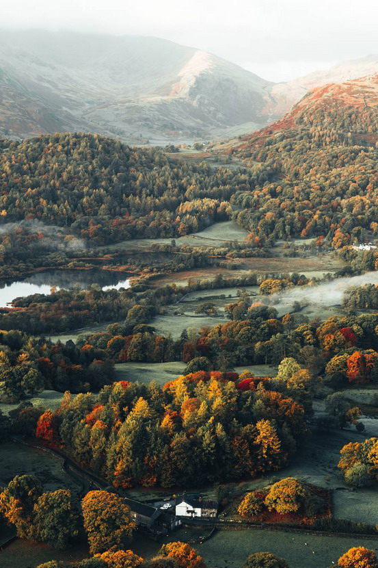 Autumn in the Lake District,England
