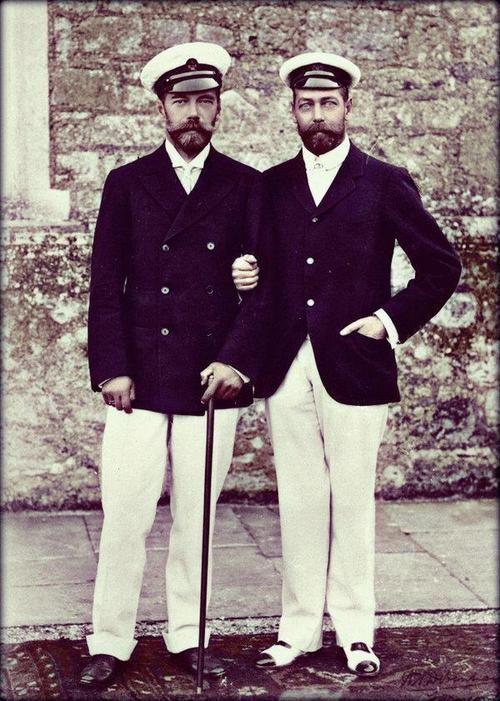 King George V and Tsar NicholasII