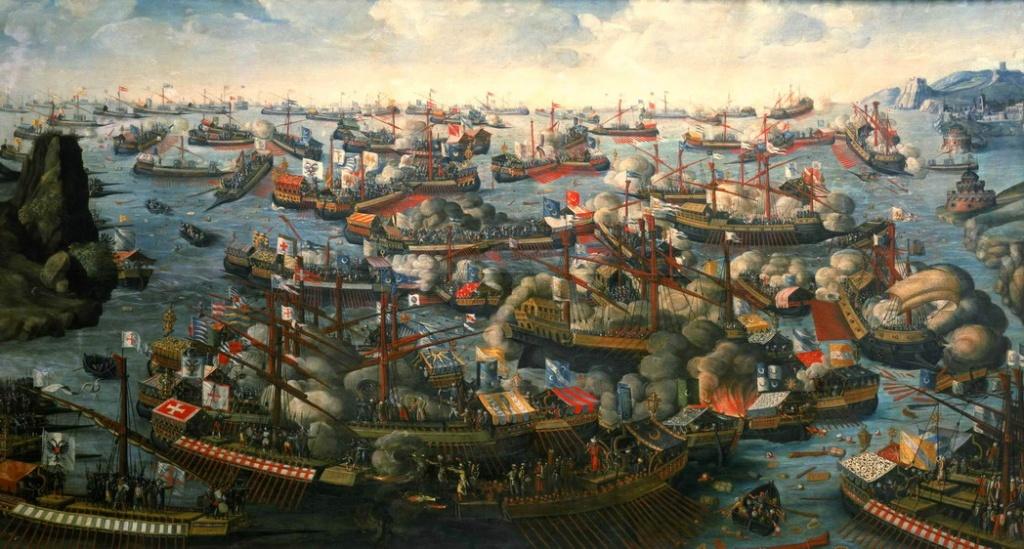Battle of Lepanto, off the coast of Greece,1571