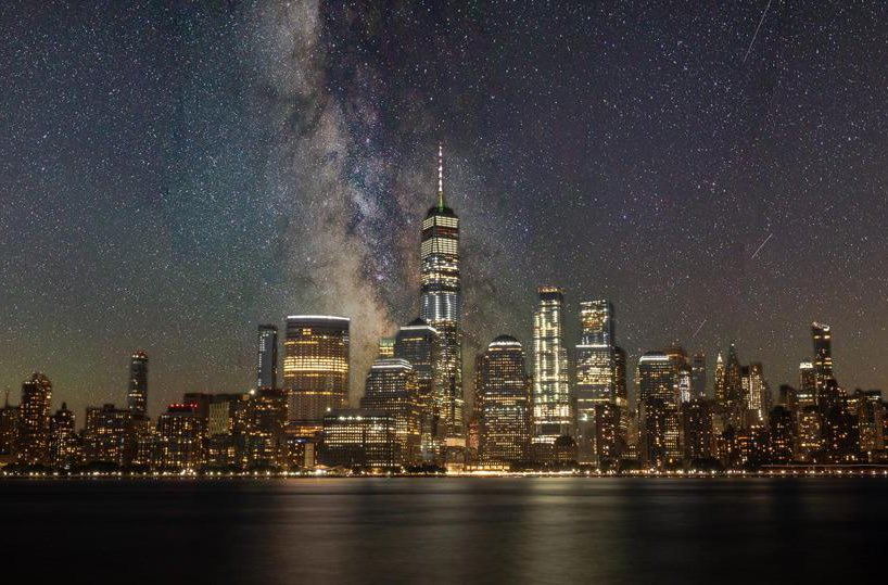 The Milky Way and Southern Manhattan,NYC