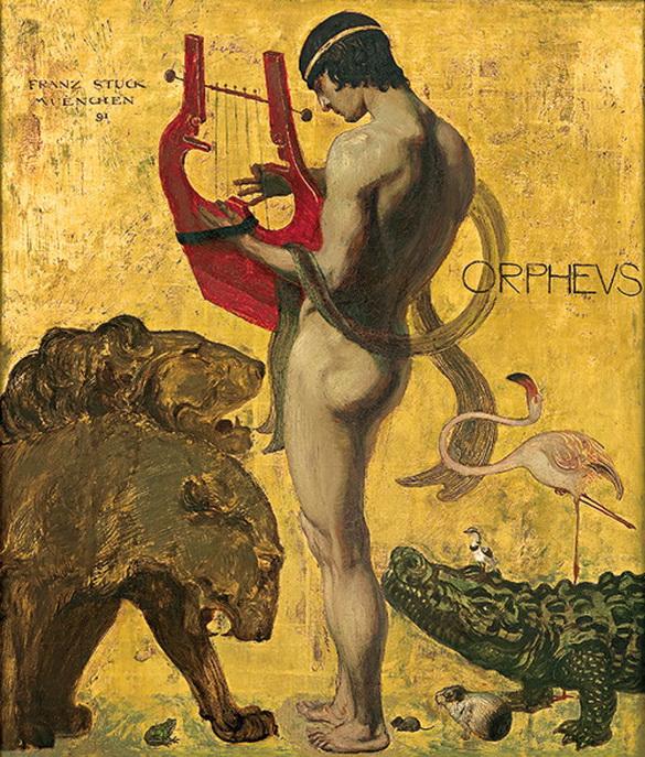 """""""Orpheus"""" by Franz von Stuck,1891"""