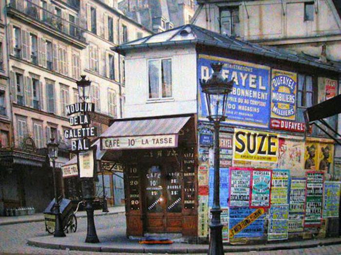 Paris in original autochrome colour, circa1910