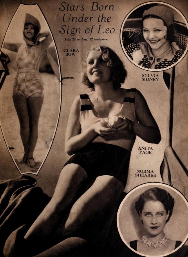 Silent film stars born under the sign ofLeo