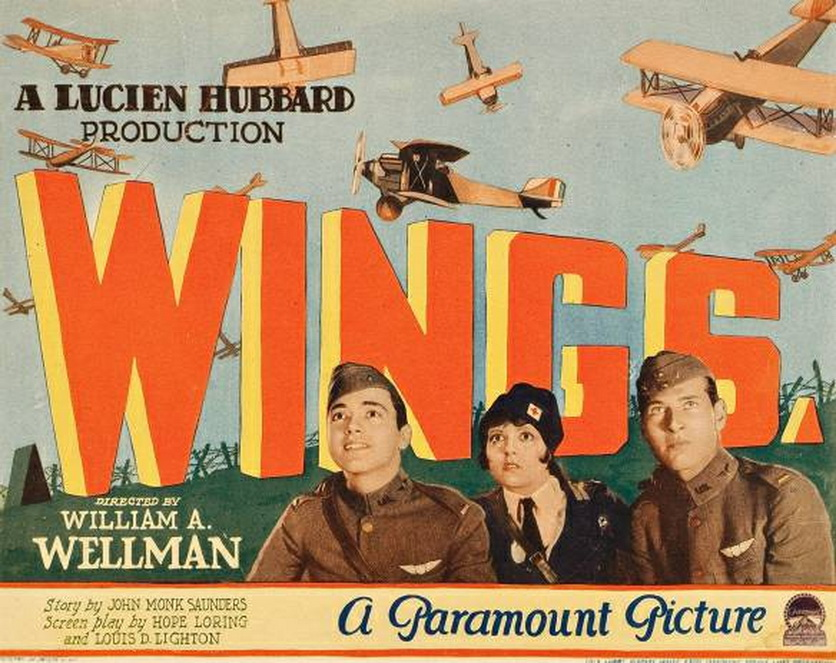 """Silent film classic """"Wings"""" with Clara Bow,1927"""
