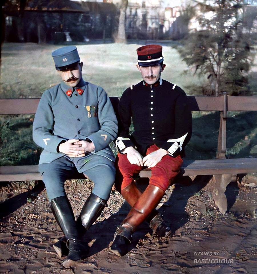 French soldiers, WWIera